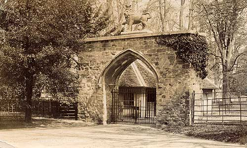 Lion Gateway to the estates built about 1530 by Sir Robert Dymoke, still standing today