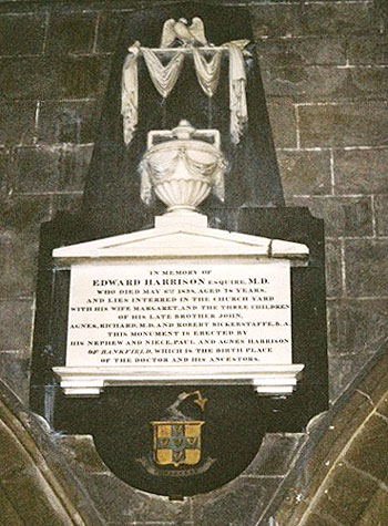 Edward Harrison's Memorial in St Mary's Church