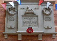 Lincolnshire Regiment war memorial in Drill Hall Lincoln