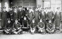 Soldiers outside Horncastle Drill Hall