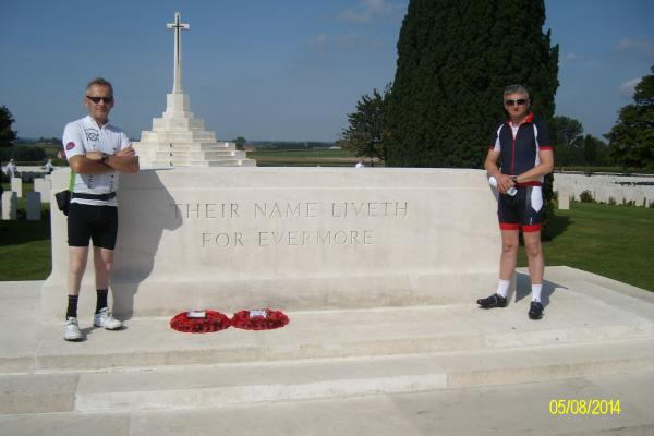 Horncastle Cyclists visit the Western Front