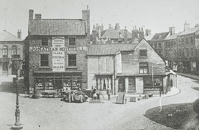 Market buildings - 1890 - soon to be demolished.